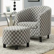 Red Barrel Studio Brownell Barrel Chair and Ottoman Set; Grey