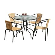 Red Barrel Studio Overshores 5 Piece Dining Set; Charcoal