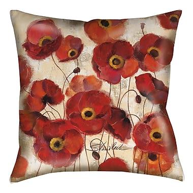 Red Barrel Studio Loudoun Poppies Printed Throw Pillow; 20'' H x 20'' W x 5'' D