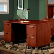 Red Barrel Studio Chase Executive Desk; Hansen Cherry