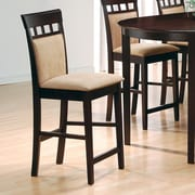 Red Barrel Studio Constitution 24'' Bar Stool (Set of 2); Rich Dark Cappuccino
