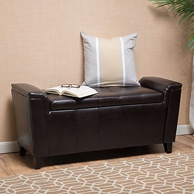 Red Barrel Studio DuClaw Storage Ottoman; Brown