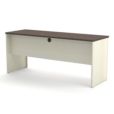 Red Barrel Studio Bormann 30.4'' H x 71.1'' W Desk Hutch; Chocolate/Antigua