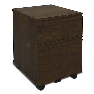 Red Barrel Studio Bormann 2-Drawer Mobile Pedestal; Chocolate