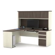 Red Barrel Studio Bormann Executive Desk; White Chocolate & Antigua