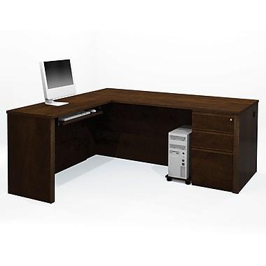 Red Barrel Studio Bormann Executive Desk; Chocolate