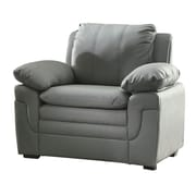Red Barrel Studio Chan Arm Chair; Grey