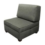 Red Barrel Studio Attica Sit 'n Store Side Chair; Flint