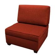 Red Barrel Studio Attica Sit 'n Store Side Chair; Brick