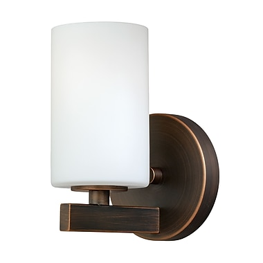 Red Barrel Studio Listermann 1-Light Bath Sconce; Sienna Bronze