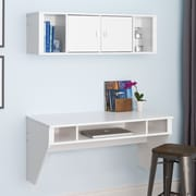 Red Barrel Studio Cothren Floating Desk w/ Hutch; White