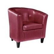 Red Barrel Studio Cummingham Barrel Chair; Red