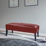 Red Barrel Studio Cummingham Upholstered Bedroom Bench; Red