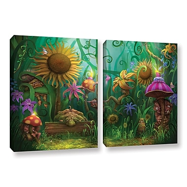 Red Barrel Studio 'Meet The Imaginaries' 2 Piece Graphic Art on Wrapped Canvas Set; 32'' H x 48'' W