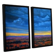Red Barrel Studio 'Shadow Moses' 2 Piece Framed Painting Print on Canvas Set