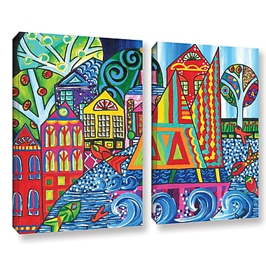 Red Barrel Studio Jump 2 Piece Painting Print on Wrapped Canvas Set; 24'' H x 32'' W x 2'' D