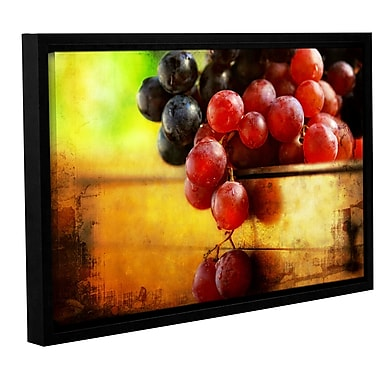 Red Barrel Studio 'Autumn Grapes' Framed Photographic Print on Wrapped Canvas; 24'' H x 36'' W