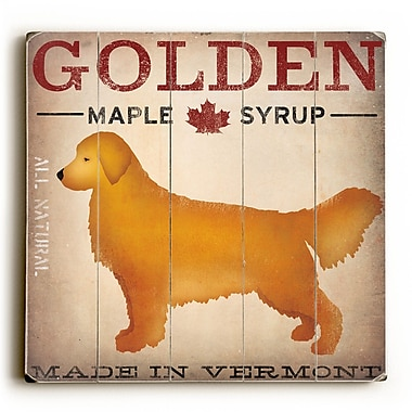 Red Barrel Studio Golden Dog at Show Wall D cor; 30'' H x 30'' W x 0.75'' D