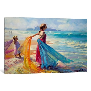 Red Barrel Studio 'Into the Surf' Framed Painting Print on Wrapped Canvas