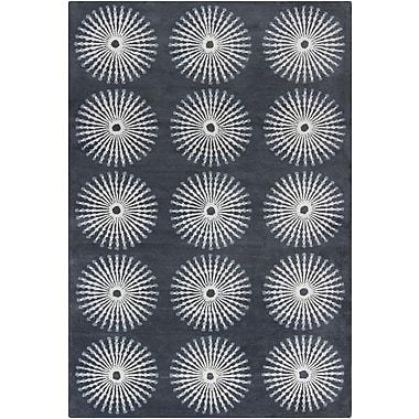 Red Barrel Studio Willow Hand Tufted Wool Dark Gray/Light Gray Area Rug; 8' x 10'