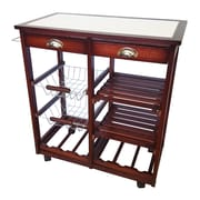 JA Marketing Oaken Wood Kitchen Trolley Bar Cart