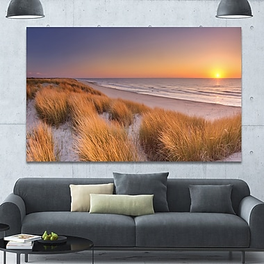 DesignArt 'Sunset on Texel Island Beach' Photographic Print on Wrapped Canvas