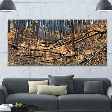 DesignArt 'Thick Autumn Forest Panorama' Photographic Print on Wrapped Canvas