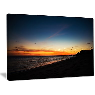 DesignArt 'Sunset Over Beach in Cabo St. Lucas' Photographic Print on Wrapped Canvas