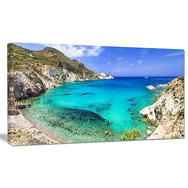 DesignArt 'Greece Beaches of Milos Island' Photographic Print on Wrapped Canvas