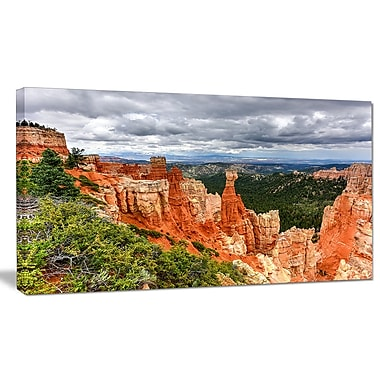 DesignArt 'Bryce Canyon National Park' Photographic Print on Wrapped Canvas; 20'' H x 40'' W x 1'' D