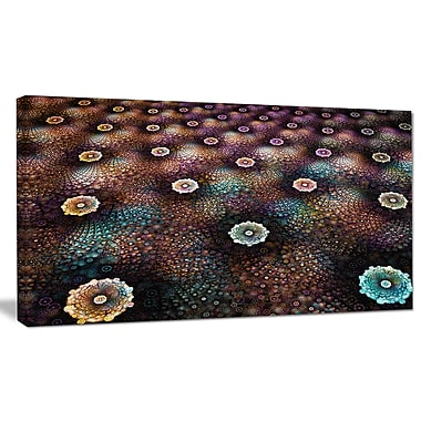 DesignArt 'Brown Flowers on Alien Planet' Graphic Art on Wrapped Canvas; 16'' H x 32'' W x 1'' D