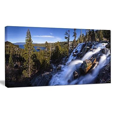 DesignArt 'Eagle Falls Emerald Bay Lake Tahoe' Photographic Print on Wrapped Canvas