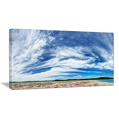 DesignArt 'Awesome Pacific Ocean' Photographic Print on Wrapped Canvas; 28'' H x 60'' W x 1.5'' D
