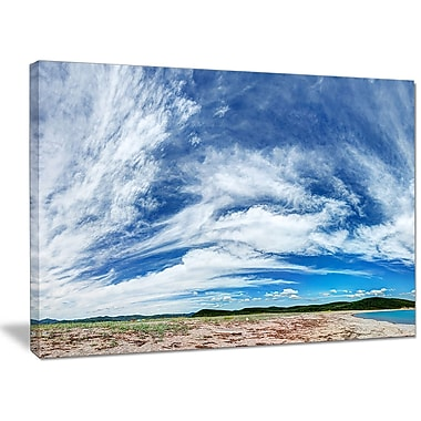 DesignArt 'Awesome Pacific Ocean' Photographic Print on Wrapped Canvas; 12'' H x 20'' W x 1'' D
