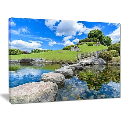 DesignArt 'Japanese Garden in Okayama' Photographic Print on Wrapped Canvas; 12'' H x 20'' W x 1'' D