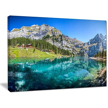 DesignArt 'Lake Oeschinen Switzerland' Photographic Print on Wrapped Canvas; 30'' H x 40'' W x 1'' D
