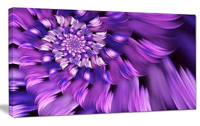 DesignArt 'Blue Flower Shaped Fractal Art' Photographic Print on Wrapped Canvas