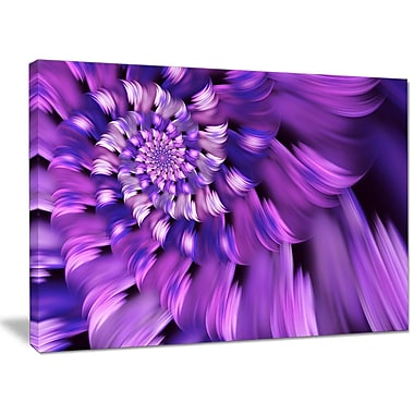 DesignArt 'Blue Flower Shaped Fractal Art' Photographic Print on Wrapped Canvas