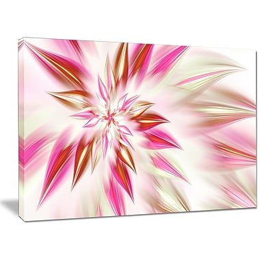 DesignArt 'Dance of Red Exotic Flower' Graphic Art on Wrapped Canvas; 30'' H x 40'' W x 1'' D