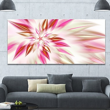 DesignArt 'Dance of Red Exotic Flower' Graphic Art on Wrapped Canvas; 28'' H x 60'' W x 1.5'' D