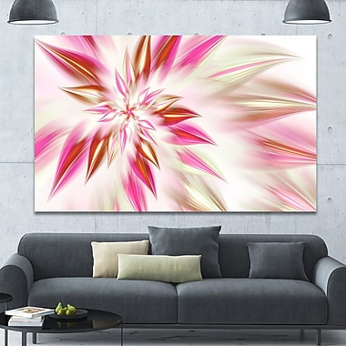 DesignArt 'Dance of Red Exotic Flower' Graphic Art on Wrapped Canvas; 40'' H x 60'' W x 1.5'' D