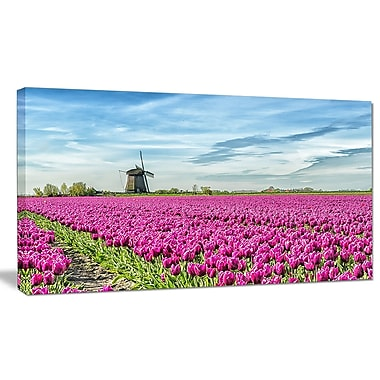 DesignArt 'Traditional Holland Countryside' Photographic Print on Wrapped Canvas
