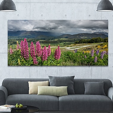 DesignArt 'Flowering Landscape of New Zealand' Photographic Print on Wrapped Canvas