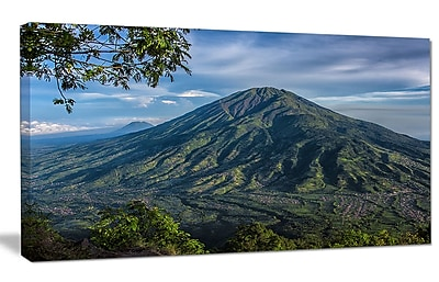 DesignArt 'Merbabu Volcano in Java' Photographic Print on Wrapped Canvas; 16'' H x 32'' W x 1'' D