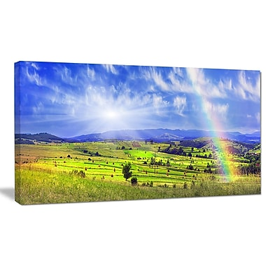 DesignArt 'Stacks in Carpathian Mountains' Photographic Print on Wrapped Canvas