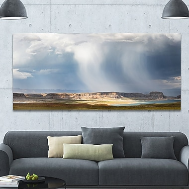 DesignArt 'Lake Powell under Clouds' Photographic Print on Wrapped Canvas; 28'' H x 60'' W x 1.5'' D