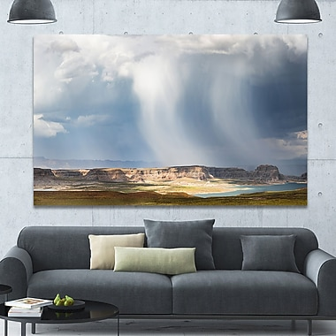 DesignArt 'Lake Powell under Clouds' Photographic Print on Wrapped Canvas; 40'' H x 60'' W x 1.5'' D