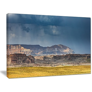 DesignArt 'Lake Powell Panorama' Photographic Print on Wrapped Canvas; 30'' H x 40'' W x 1'' D