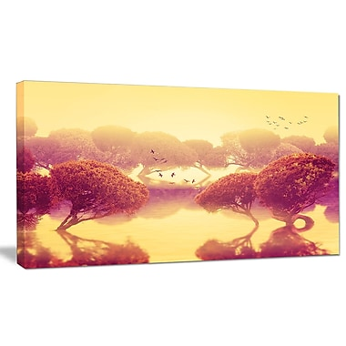 DesignArt 'Peaceful Japanese Gardens' Photographic Print on Wrapped Canvas; 12'' H x 20'' W x 1'' D