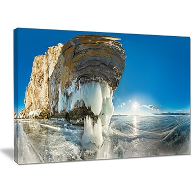 DesignArt ' Rock on Olkhon Island in Baikal Lake' Photographic Print on Wrapped Canvas